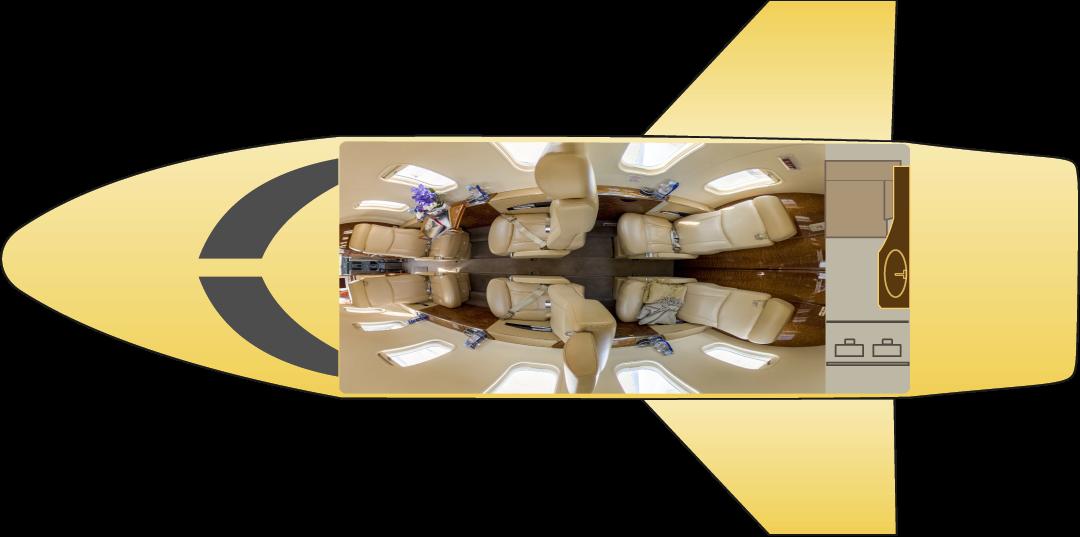 Learjet 40 floor plan
